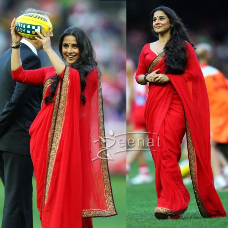 Vidya Balan Red Indian Saree