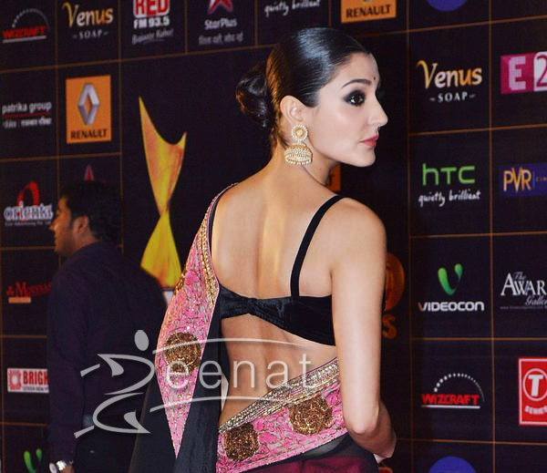 Anushka Sharma Hot Backless Saree