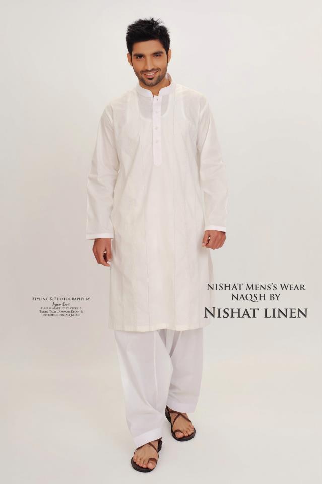 Latest-Fashion-Men-Kurta-2012-By-Naqsh-of-Nishat-Linen-12