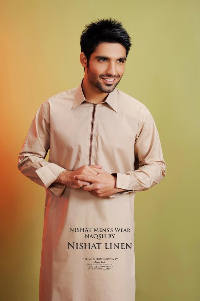 Latest-Fashion-Men-Kurta-2012-By-Naqsh-of-Nishat-Linen-14