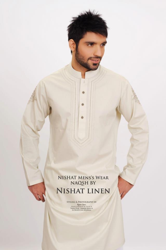 Latest-Fashion-Men-Kurta-2012-By-Naqsh-of-Nishat-Linen-15
