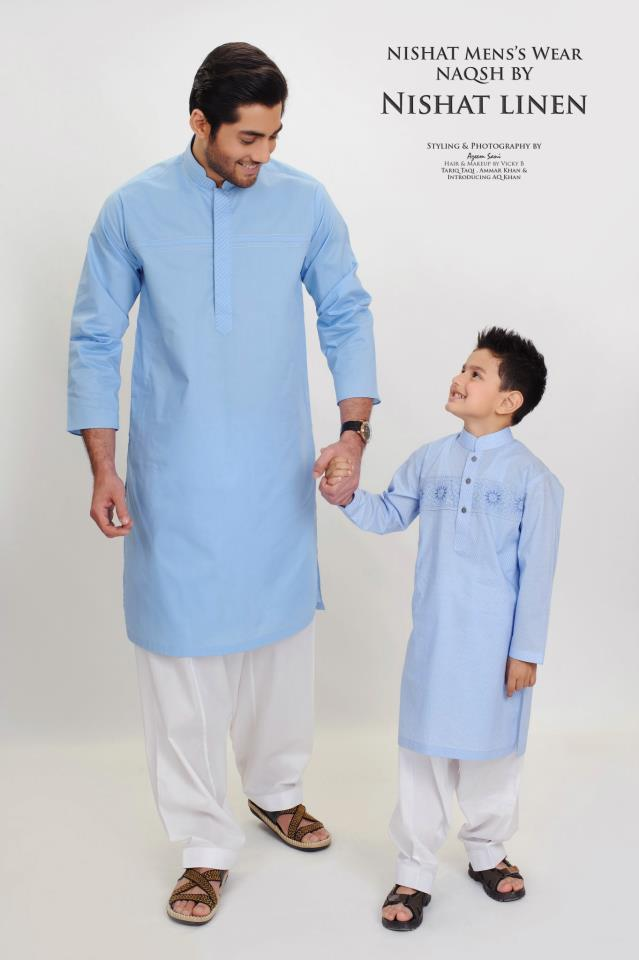 Men-Kurta-Collection-2012-By-Naqsh-Of-Nishat-linen-by-Nishat-Group-faisalabad