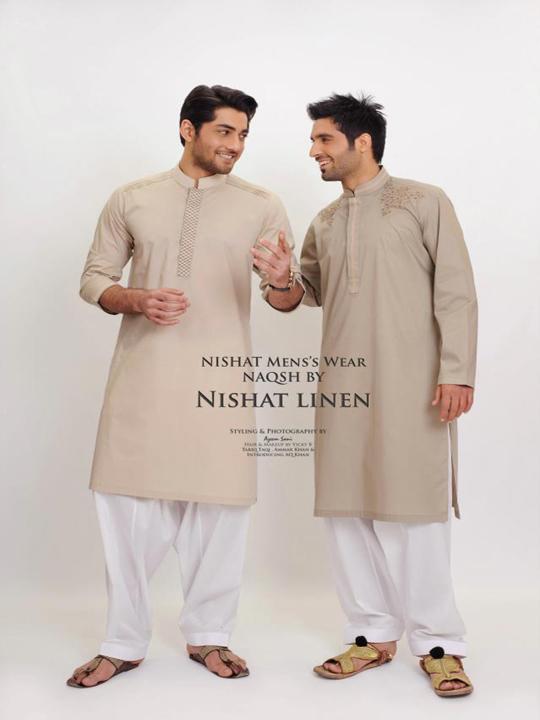 Nishat Linen Latest Men's 'NAQSH' Kurta Summer Collection 2013 -005 — www.worldfashioncorner.blogspot.com
