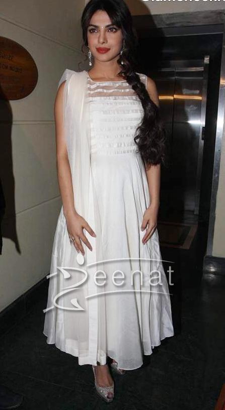 3b7a4f4600 Priyanka Chopra Anarkali Churidar Frock (6) | Zeenat Style