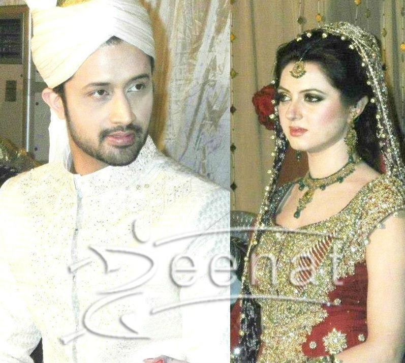 Atif Aslam and Sara Bharwana Wedding Outfit