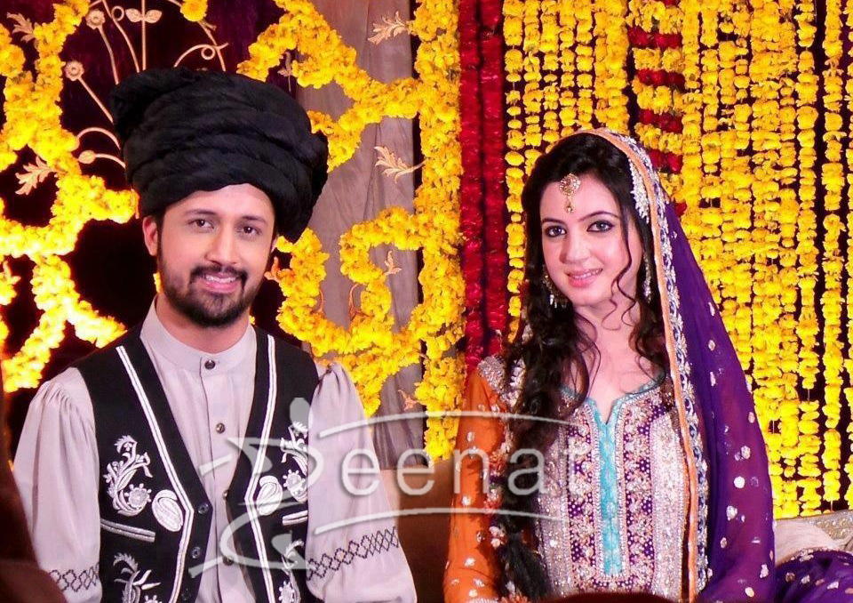 Atif Aslam And Sara Bharwana Mehndi Ceremony
