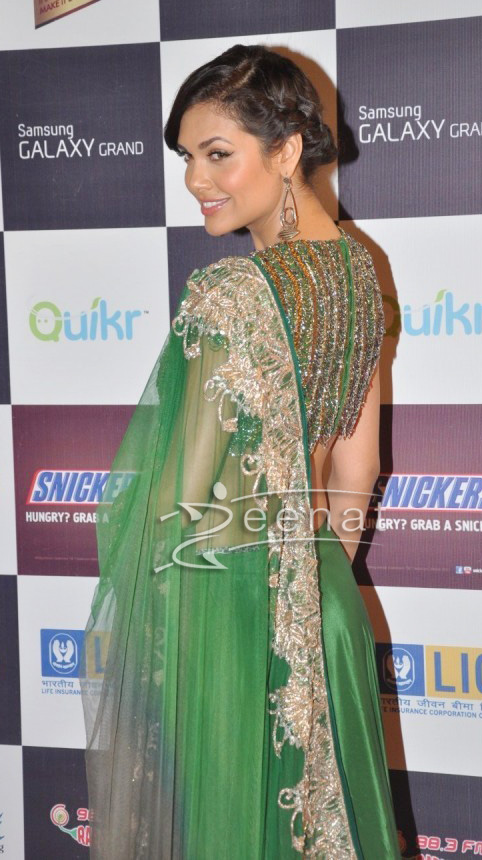 Esha Gupta In Anand Kabra and Nandita Mahtani Lehenga Dress