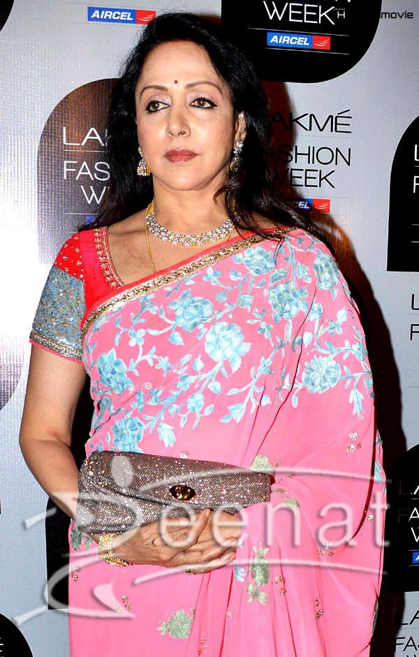 Hema Malini In Manish Malhotra Designer Sarees