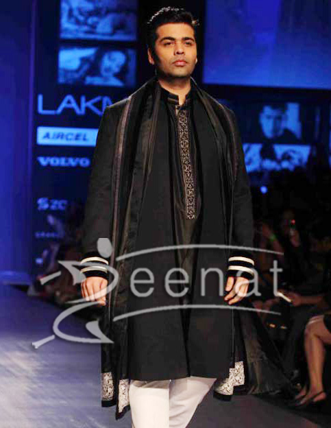 Karan Johar In Designer Kurta Salwar