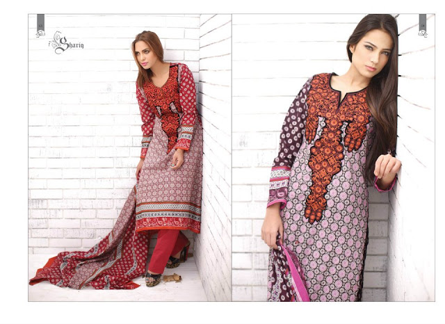 Rabea Embroidered Lawn Collection 2013 By Shariq-20
