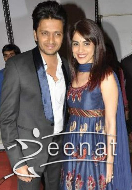 Genelia Dsouza In Anarkali Frock with Ritesh Deshmukh