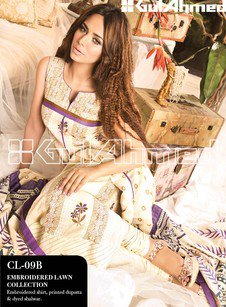 Gul Ahmed Embroidered Lawn Collection1