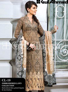 Gul Ahmed Embroidered Lawn Collection12.