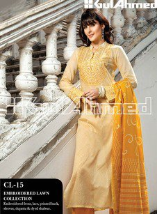 Gul Ahmed Embroidered Lawn Collection13.