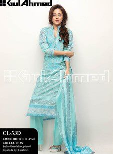 Gul Ahmed Embroidered Lawn Collection4.