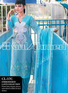 Gul Ahmed Embroidered Lawn Collection7.