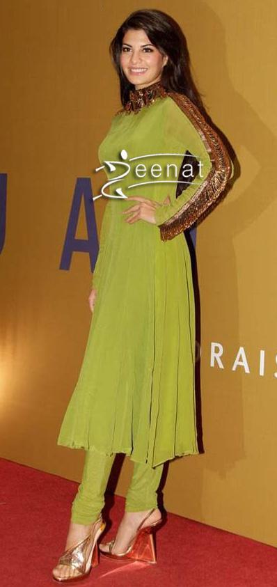 Jacqueline Fernandez In Designer Anand Kabra Anarkali