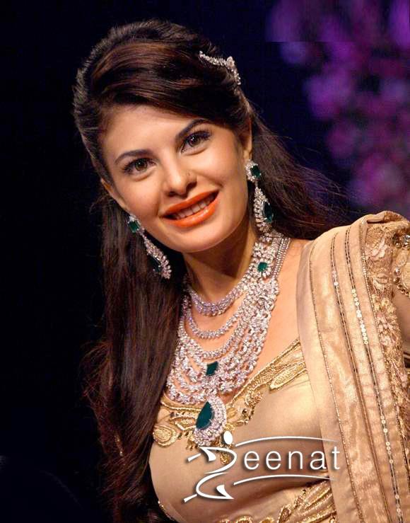 Jacqueline In Shimmer Gold Lehenga