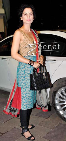 Sleeveless Salwar Kameez on Kangna Ranaut