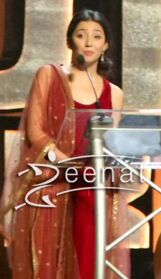 Mahira Khan In Maroon Misha Khan Lakhani Dress