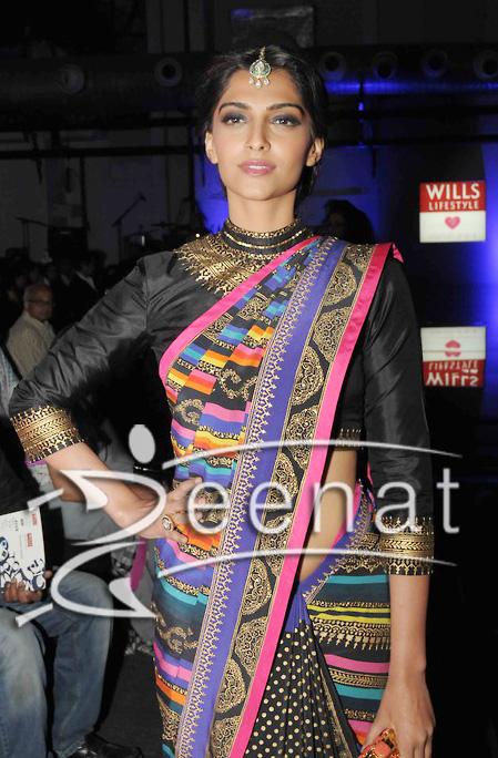 Sonam Kapoor In Designer Manish Arora Saree