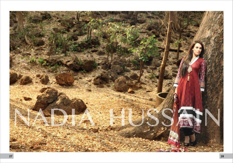 Nadia Hussain Permium Lawn 2013 By Shariq Textiles
