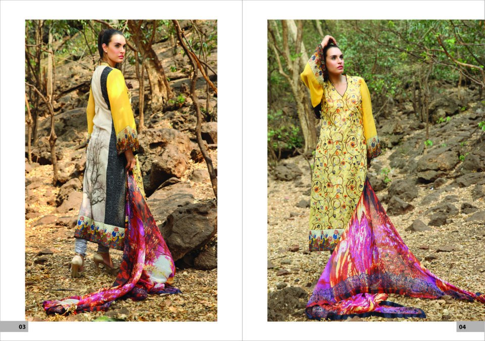 Nadia Husssain Premium Lawn Collection 4