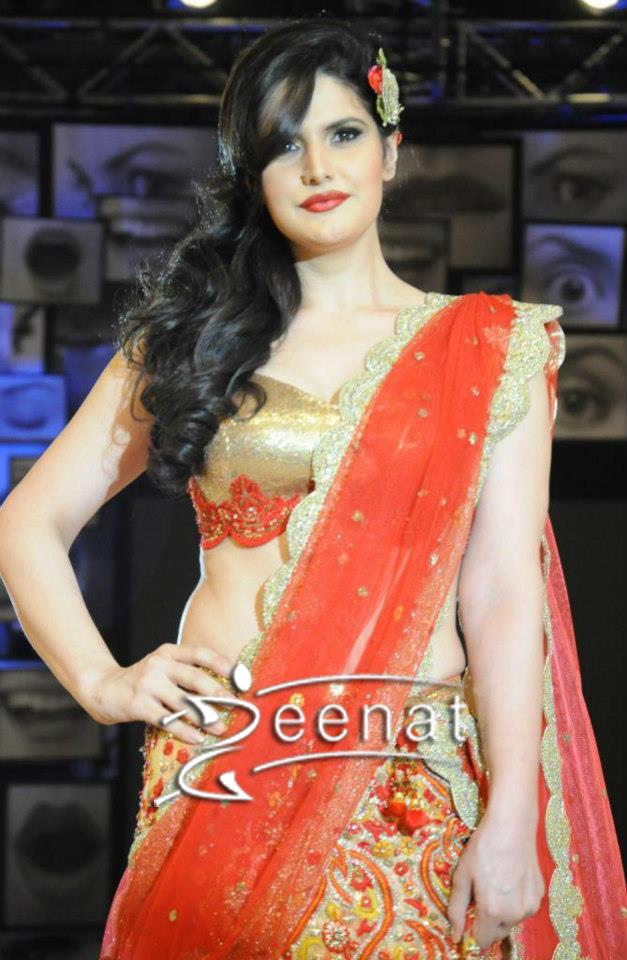 Zarine Khan Looks Stunning In Red Lehenga Choli