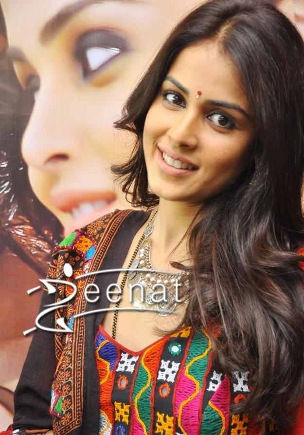 Genelia D Souza In Sindhi Embroidered Anarkali Zeenat Style