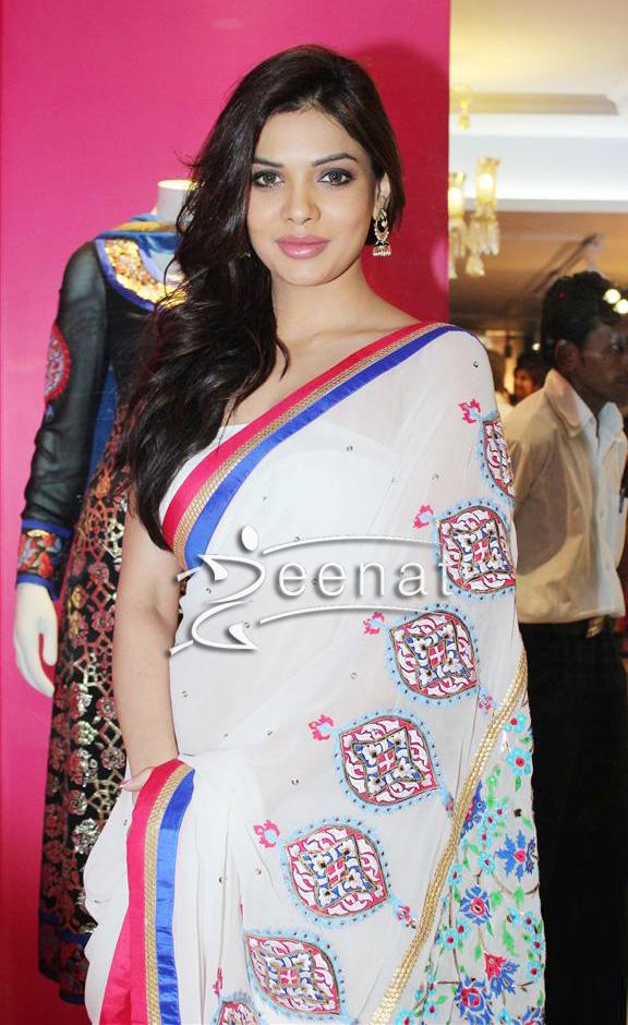 Sara Loren In Designer Manish Arora Saree