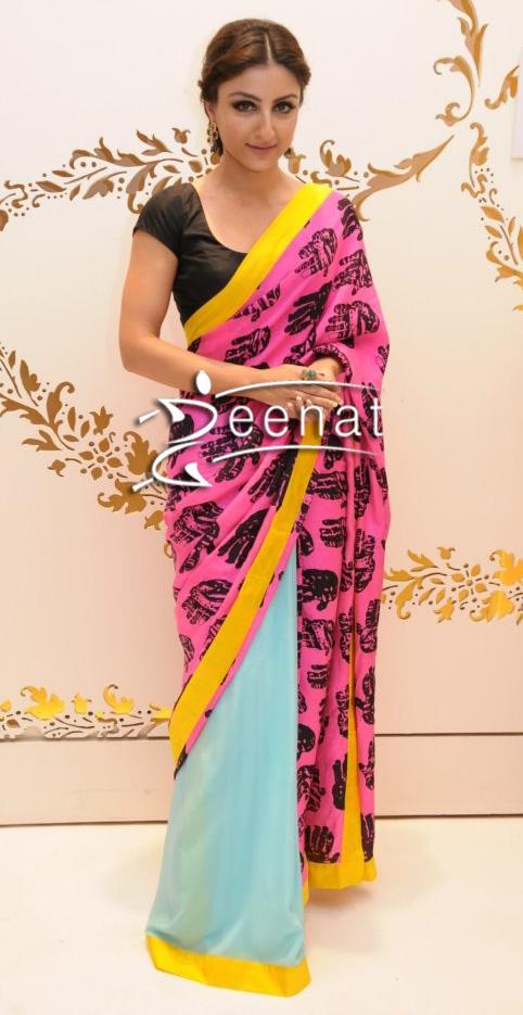 Soha Ali Khan In Designer Satya Paul Saree