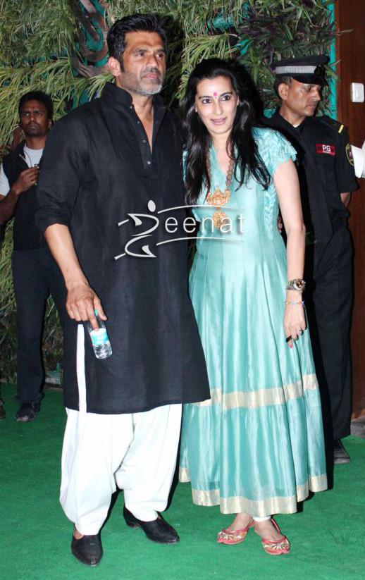 Sunil Shetty In Casual Kurta Salwar