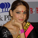 Bipasha Basu In Black Net Saree At Hair and Makeup – DIY Get the Look.
