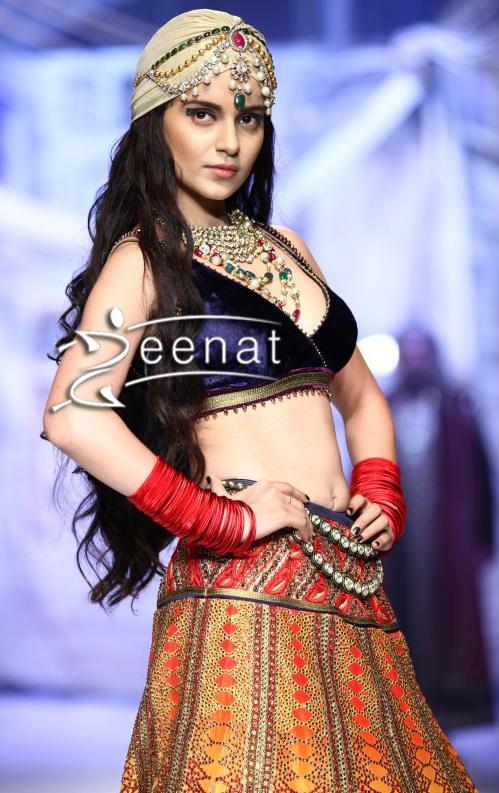 Kangana Ranaut in Designer J.J Valaya Lehenga