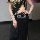 Simran Kaur in Black Saree