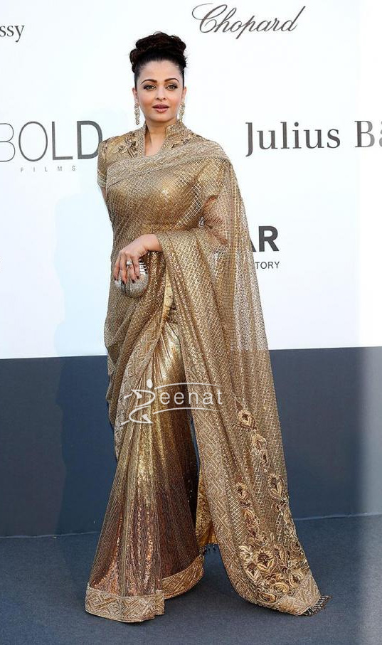 Aishwariya Rai Bachan In Designer Saree