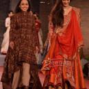 Tabu in bridal lehenga choli at Delhi Couture Week 2013