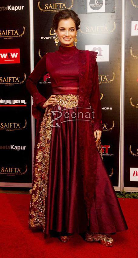 Dia Mirza in Royal Bollywood Anarkali Churidar