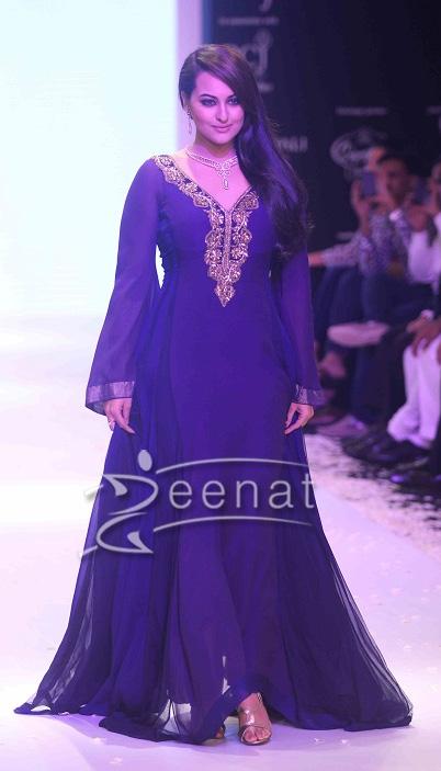 Sonakshi Sinha in designer frocks