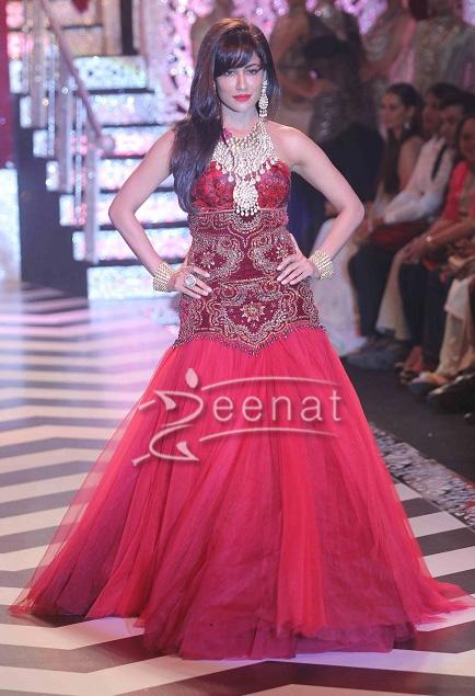 Chitrangada Singh in designer frock