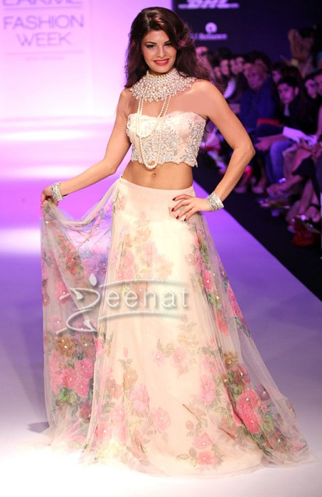 Jacqueline Fernandez in Shehla Show at Lakme Fashion Week Winter Festive 2013