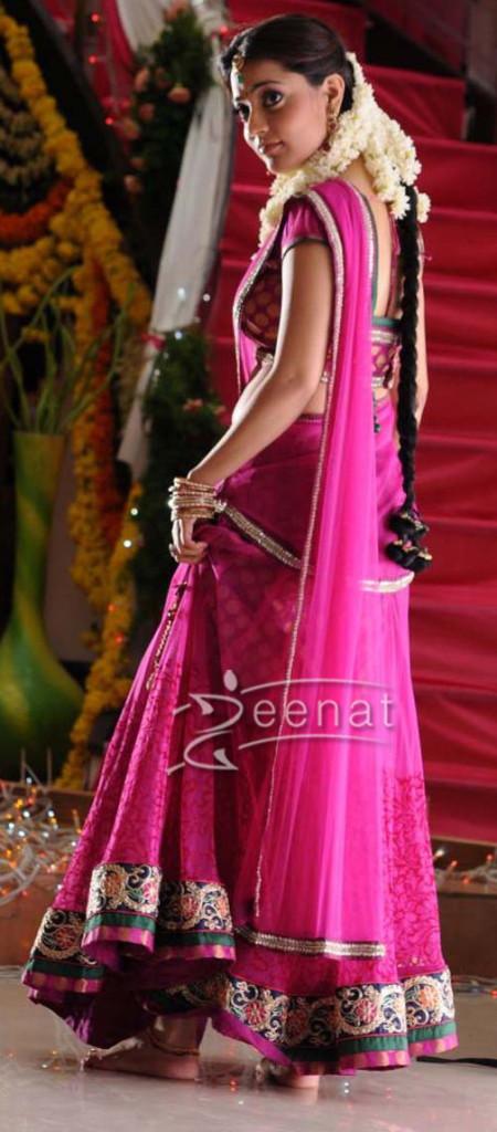 South Indian Actress Nisha Agarwal in saree