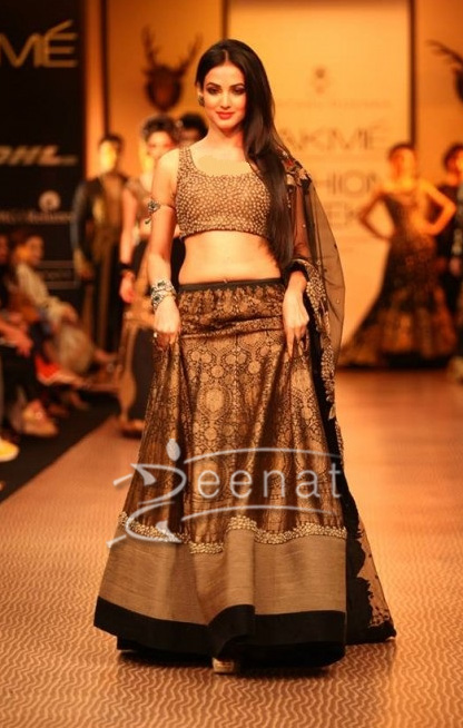 Sonal Chauhan in Shantanu Goenka Show at Lakme Fashion Week Winter Festive 2013