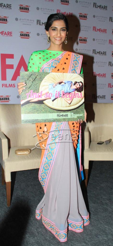 Sonam Kapoor At New Filmfare In Saree