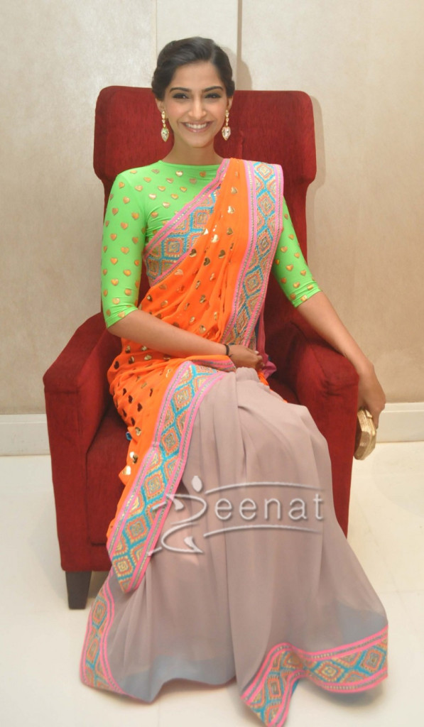 Sonam Kapoor In Bollywood Hot Saree