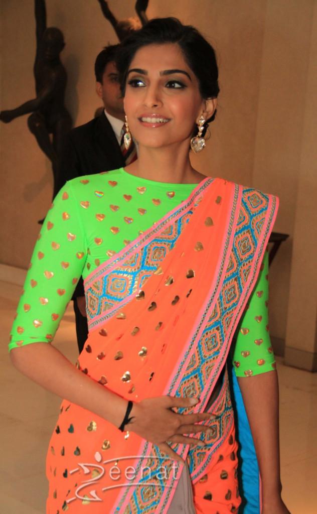 Sonam Kapoor Looks Gorgeous in Bollywood Saree