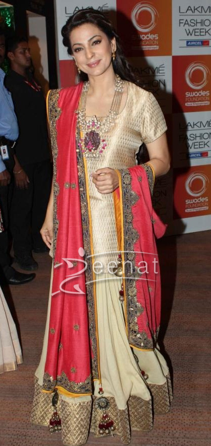 Juhi Chawla Celebrities at Vikram Phadnis Show 2013
