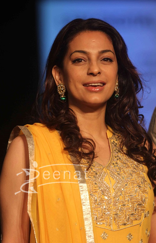 Juhi Chawla in Bollywood Anarkali Churidar