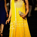 Juhi Chawla Yellow Anarkali Lakme Fashion Week 2013