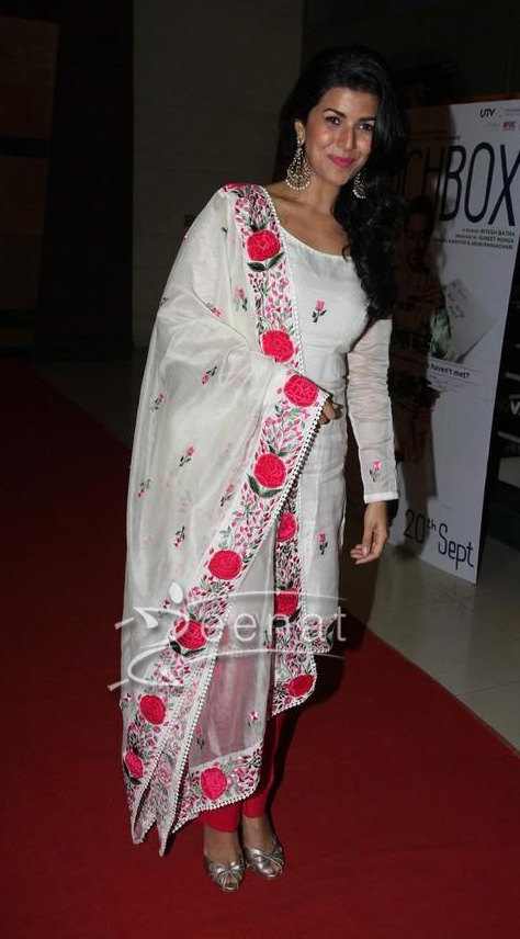 Nimrat Kaur in Bollywood Churidar Salwar kameez